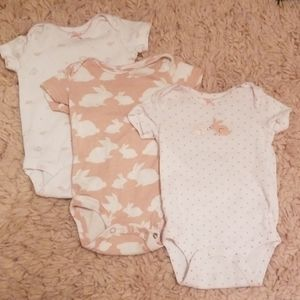 Set of 3 bunny onsies